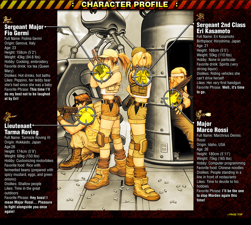 Metal slug3 character profile biocorpaavc Gallery