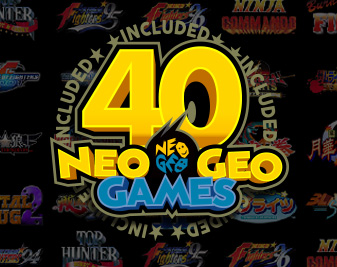40 legendary NEOGEO titles will be included!