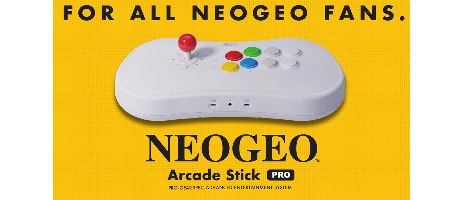 Introducing, the NEOGEO Arcade Stick Pro!A fighting stick with 20 classic SNK fighters pre-installed!|NEWS RELEASE|SNK USA